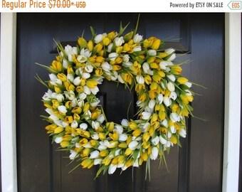 SPRING WREATH SALE Easter Wreath- Easter Decoration- Spring Wreath- Tulips- Spring Decor- Spring Decoration- Tulip Wreath