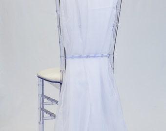 White Chiffon Chiavari Chair Sash