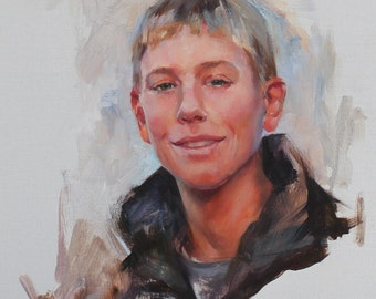 Portrait From Your Photo Modern Painterly Style Custom Oil Painting