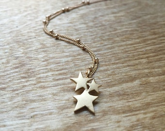 The Starlight Pendant in Matte Gold Plated Bronze
