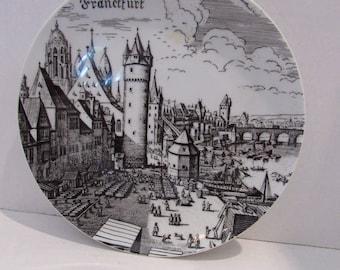Vintage Collectable Plate Frankfurt Royal Porcelain Bavaria