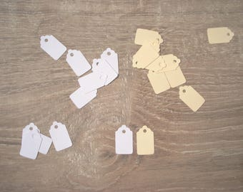 20 mini blank white or ivory color - price tags