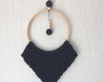 Black Wool Wall hanging