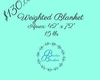 Weighted Blanket 42x72 15lbs