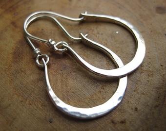 Petite Gabriela Hammered Sterling Silver Earrings Hoops