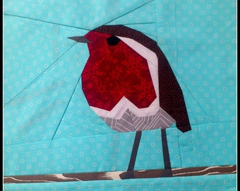 Robin Red Breast- A Foundation Paper Pieced Quilt Pattern- 12 Inch