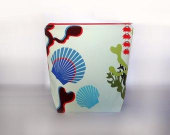 Medium / Large Knitting Project Bag, Underwater Zipper Project Bag, Summer Project Bag