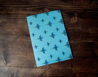 A5 Bird Pattern Notebook (48 Blank Pages) - Great gift as a sketchbook, journal or diary.