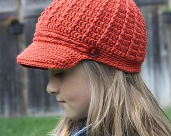 Newsboy Cap,Cotton Newsboy Cap,Crochet Newsboy Hat,Crochet Newsgirl Hat,Crochet Hat,Crochet Visor,Crochet Cap,Summer Hat,Crochet Cotton Cap