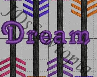 Dream Arrows Machine Embroidery 4x4 in 17 Formats