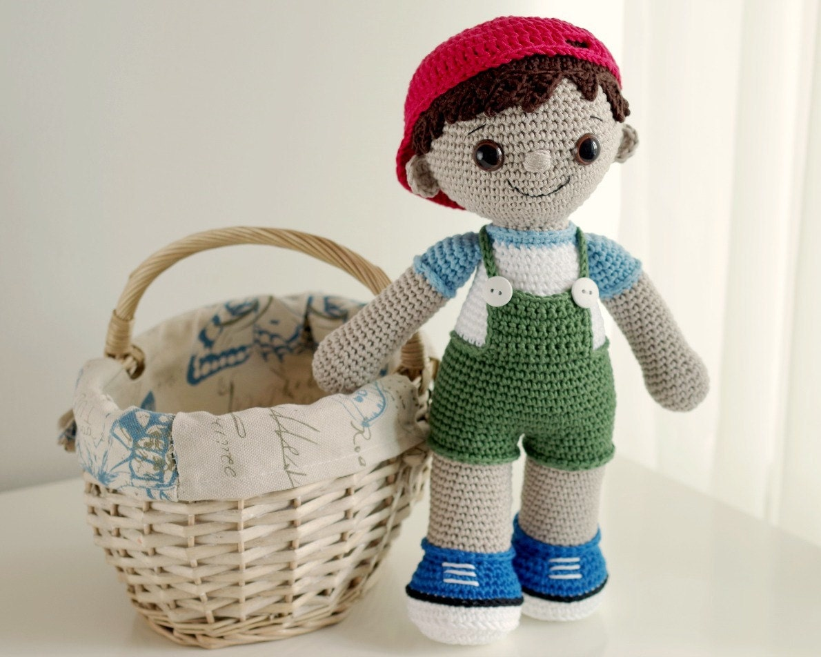Amigurumi Pattern Dolls : Tobias the amigurumi boy doll crochet amigurumi