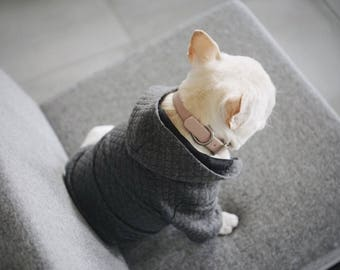 SALE! Quilted Dog Hoodie , Size S only!