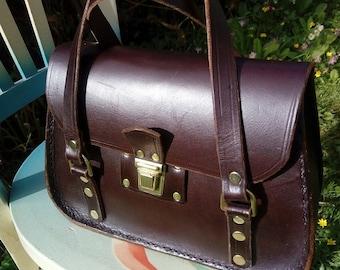 Leather bag/Handmade/Leather Handbag/Vintage bag/Early 90s/Women's bags/Leather Goods