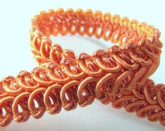 Coral Orange 12mm Raised Heavy Gimp Decorator or Upholstery Trim