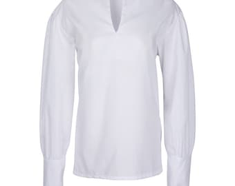 Colonial Men's Shirt With Lace Collar