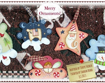 Merry Ornaments by Sharon Bond, wonderful email pattern packet!