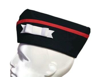 Sailor Hat Dark Navy Blue Nautical Military Cap Steampunk Steam Punk Pinup Pin Up Army Garrison Cap Wedge Flight Hat Small