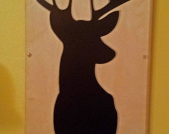Plywood Deer and Recycled Aluminum in Black