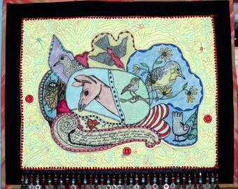 """quilted wallhanging (23 1/2"""" X 19"""")"""
