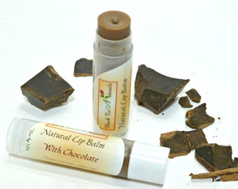 Chocolate Lip Balm- Organic Chapstick Lip Balm with Organic Shea Butter and Coconut - Personalized party favors lip balm