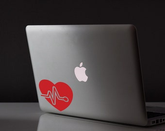 Heartbeat Sticker / Vinyl Decal / Laptop Decal / Car Decal / Nurse Sticker / Doctor / Physicians Assistant Sticker