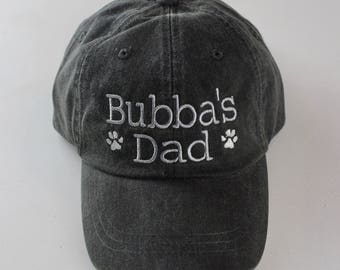 Dog Dad Baseball Cap -  Embroidered Dog Lover Hat || Monogram Gift by Three Spoiled Dogs Made in USA