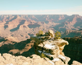 Grand Canyon Print, Arizona Landscape Photography, Grand Canyon Photo, Desert, Southwest Decor, Nature Photography, blue, orange, Wall Art