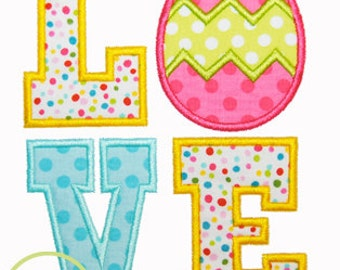 Easter Egg Love Applique Design For Machine Embroidery INSTANT DOWNLOAD now available