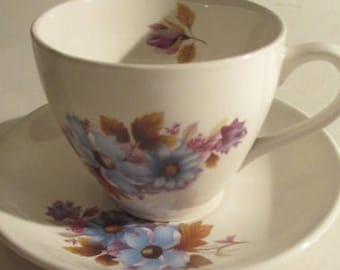 Vintage Lord Nelson Floral Teacup & Saucer Pattern 3-80