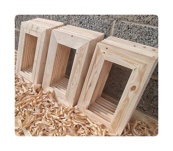 25 Wood Frames, No Hardware or Glass, Bulk Wood Frames, 5x10\