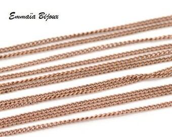 red copper horse 1x1.5 mm mesh chain 50 cm