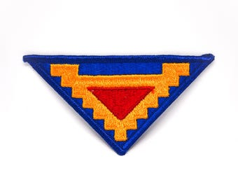 Vintage Aztec Triangle Embroidered Patch