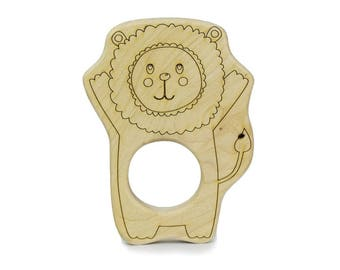 Lion King Baby Teether - Baby Shower Gift - Baby Shower - Safari Baby Shower - Safari Nursery Decor