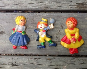 Vintage Set of Clown Magnets