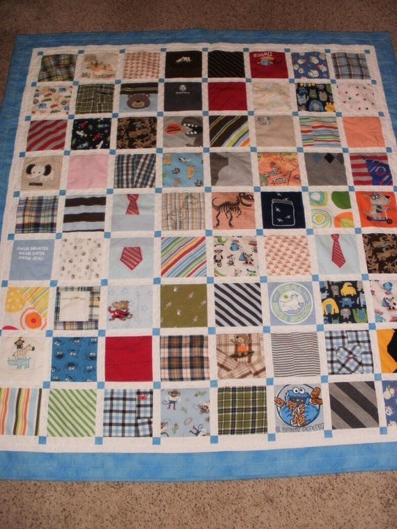 Items Similar To Baby Clothes Quilt Custom Made For Sarah