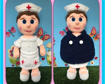 Nurse Nora (PDF pattern only, not the finished doll)