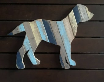 Dune Fence Dog -Made to Order -  Upcycled Beach Decor, Beach House, Beach, New Jersey, Jersey Shore, Distressed Wood