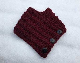 Burgundy Cowl scarf