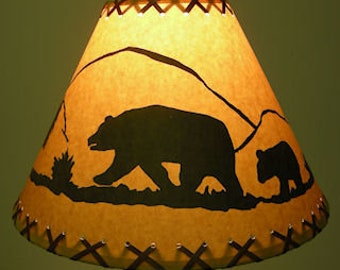 Rustic lamp shade etsy aloadofball Image collections