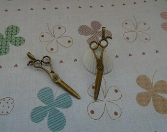 20pcs 43x13mm scissors/scissor Antique Bronze Retro Pendant Charm For Jewelry Pendant
