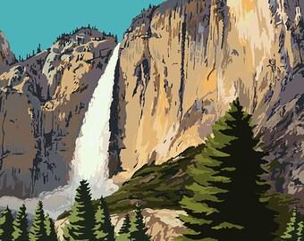 Yosemite Falls - Yosemite National Park, California (Art Prints available in multiple sizes)