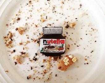 Wearable Art Brooch: Nutella