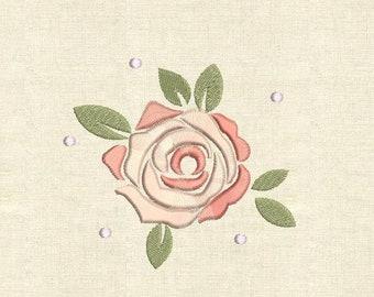 Machine embroidery designs rose