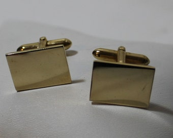 Vintage SWANK Woven Look Cuff Links