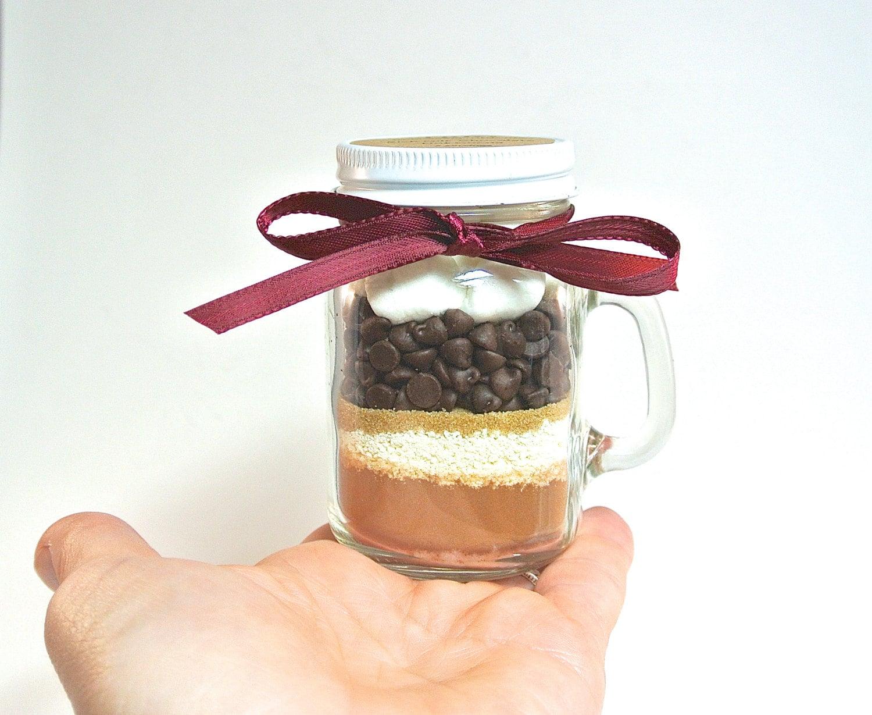 Hot Chocolate Mini Mason Jar Mug 4 oz Mason Jar Mug Milk