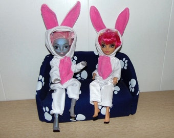 Kigurumi. Clothes for Monster High Dolls in the form of costumes of various animals. For dolls Monster High and Ever After High.