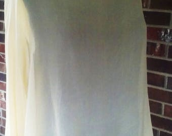 Golden Silk Chiffon Cropped Blouse