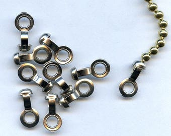 50 Silver Ball Chain Connectors