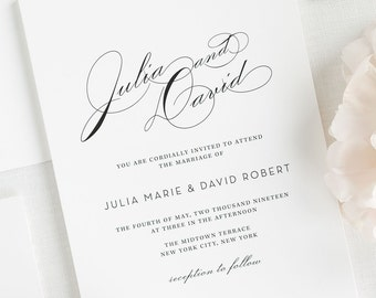 Vintage Glam Wedding Invitations - Sample