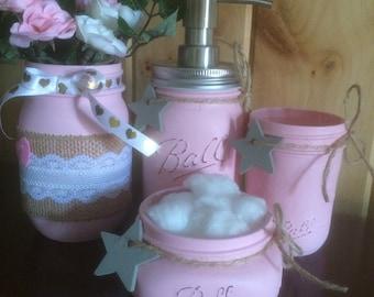 Mason Jar Bath Set